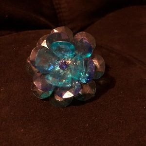Jewelry - Crystal Blue Flower Ring